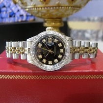 Rolex Oyster Perpetual Datejust Diamonds  Black Dial Watch