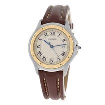 Cartier Mens Unisex  1180 Midsize 33MM Steel Gold Date