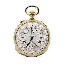 Paul Ditisheim Vintage Rattrapante Pocket Watch Gold 18Kt 55mm