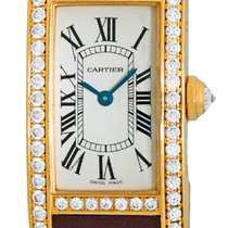 "Cartier Diamond ""Tank Americaine"" Strapwatch."