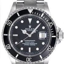 Rolex Submariner 16610 Stainless Steel Men's Watch Black Dial