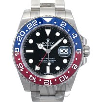 ロレックス (Rolex) GMT-Master II Black/18k white gold Ø40mm -...