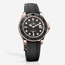 Rolex Yacht-master Automatic Black Dial 18kt Rose Gold Black...