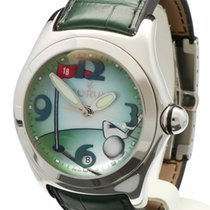 Corum Bubble Golf Automatic Crocostrap Depl. Clasp Steel 44 mm