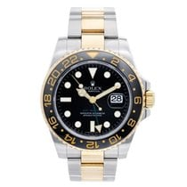 Rolex GMT-Master II 2-Tone Men's Watch 116713 with Green...