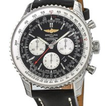 Breitling Navitimer 01 46 Chrono Auto Leather Watch AB012721/B...