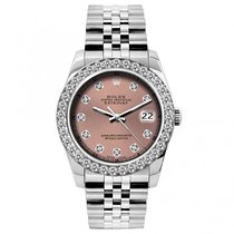 Rolex Datejust Ladies' 26mm Pink Champagne Dial Stainless...