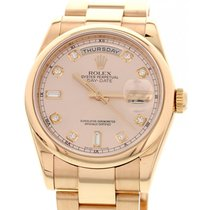 Rolex Men's Rolex Day-Date 18K Rose Gold Watch 118205 Box...