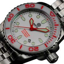Deep Blue Sea Ram 500 Auto Diving Watch Wr 500m Wht/org Bezel...