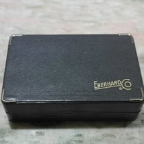 Eberhard & Co. vintage watch box leather grey good condition