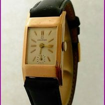 Omega Vintage 20F Tank Art Deco Gold Plated Men's
