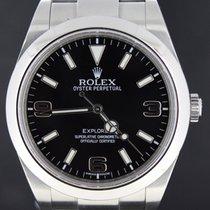 Rolex Explorer I Steel Black Dial 39MM, Full Set 2014 MINT