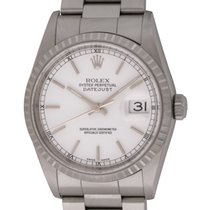Rolex : Datejust 36mm :  16220 :  Stainless Steel : white dial...