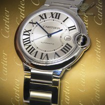 Cartier Ballon Bleu Date 42mm Stainless Steel Mens Automatic...