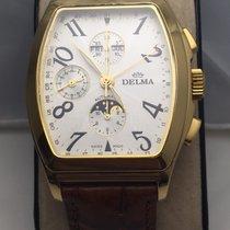 Delma Klondique 18k gold chronograph