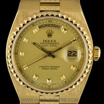 Rolex 18k Yellow Gold Rare Egyptian Oysterquartz Day-Date 19038