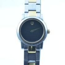 Movado Damen Uhr 25mm Stahl Vergoldet Museum Watch Rar Mit...