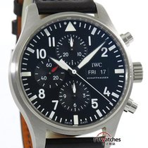 萬國 (IWC) Pilot Chronograph Iw3777 Box Papers 99% New 2017