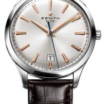 Zenith ELITE CENTRAL SECOND 40 MM Lederband Kroko