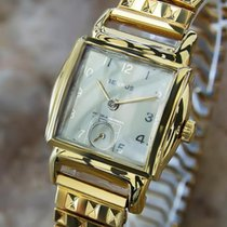 Benrus 1940s Swiss Made Gold Plated Mens Manual Luxury Vintage...