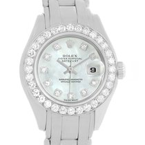 Rolex Pearlmaster 18k White Gold Mop Diamond Dial Bezel Watch...