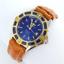 Breitling Lady J Damen Uhr Stahl/gold D52065 Blue