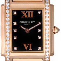 Patek Philippe Twenty-4 Ladies 18k Rose Gold Diamond Watch...