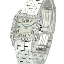 Cartier WF9004Y8 Santos Demoiselle in White Gold - on White...