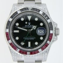 Rolex GMT-Master II Coke Black Saphires with Diamonds Custommade