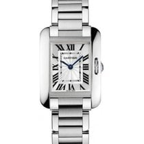 Cartier W5310022 Tank Anglaise Small in Steel - on Bracelet...