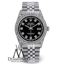Rolex Diamond Rolex Watch - Datejust 36mm- Black Dial- Jubilee...