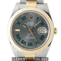 Rolex Datejust II Steel & Yellow Gold 41mm Slate Dial With...