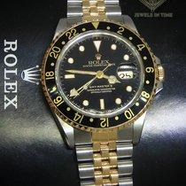 Rolex GMT-Master II 18k Yellow Gold/Steel Black Dial/Bezel...