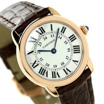 Cartier W6701007 Ronde Solo De Silver Dial Women Brown Leather...