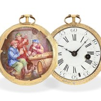 Baillon Watchmaker: fine and rare Rococo enamel verge watch, ...