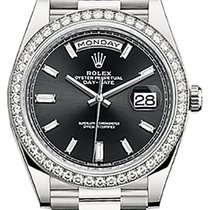 Rolex Day-Date 40 228349 228349RBR-0003 Black Diamond Bezel...