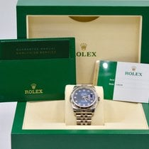 Rolex Unworn Datejust 36mm Blue Diamond Dial S/S Jubilee