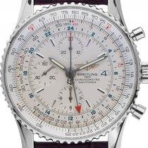 Breitling Navitimer World Stahl Automatik Chronograph Armband...