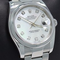 Rolex Datejust 116200 36mm Diamond White Mop Dial Oyster Watch...