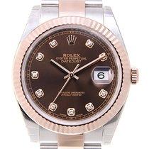 勞力士 (Rolex) Datejust 18k Rose Gold And Steel Brown Automatic...
