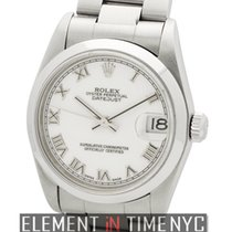 Rolex Datejust Steel 31mm Domed Bezel White Roman Dial D Serial