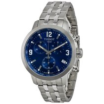 Tissot PRC 200 Chronograph Blue Dial Stainless Steel Men's...