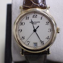 Patek Philippe Calatrava 5053J 18K Yellow Gold Leather Strap...