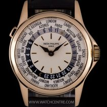 Patek Philippe 18k Rose Gold Silver Dial World Time Gents...