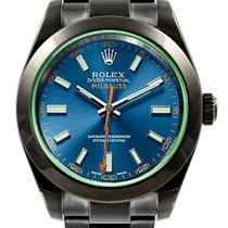Rolex Blue Milgauss 116400 GV DLC-PVD