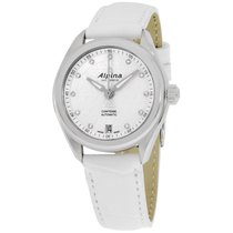 Alpina Comtesse White Dial White Leather Strap Ladies Watch...