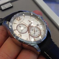 Hamilton JAZZMASTER CHRONO QUARZO White-Brown Leather 42mm...