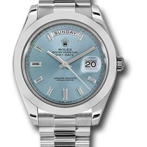 Rolex 228206 Diamond Dial ibbdp Day-Date 40 Platinum
