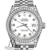 Rolex 26mm Datejust White Face Diamonds 18k White Gold &...