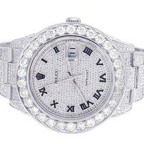 Rolex Mens Rolex Datejust II 116300 Roman Dial Full Iced 41MM...